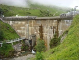 Barrage de Castillon du Tourmalet - (c) Photo EDF - Colombie